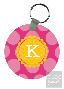 personalized keychain - BUBBLE DOTS