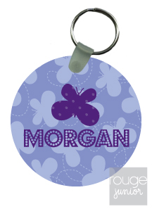 personalized keychain - BUTTERFLY