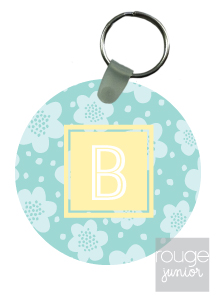 personalized keychain - FLOWERS