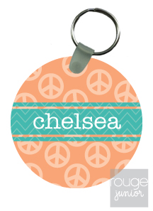 personalized keychain - PEACE