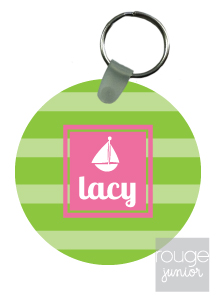 personalized keychain - STRIPE