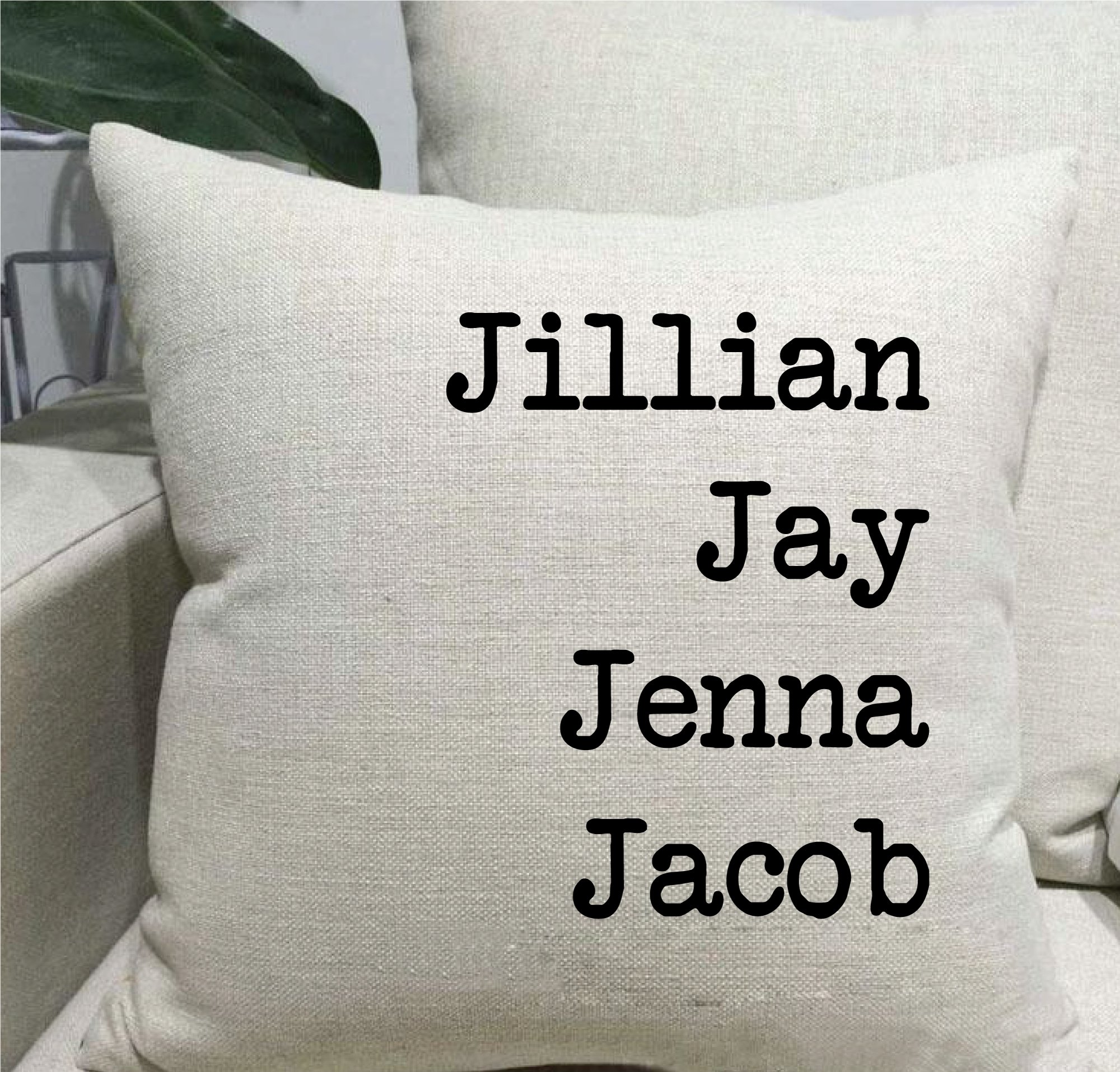 Names Linen Throw Pillow
