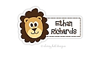 waterproof name labels - set of 24 - LION