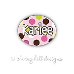 waterproof name labels - set of 66 - CARNIVAL PINK