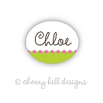 waterproof name labels - set of 66 - CONFETTI LIME/PINK
