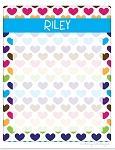personalized dry erase message board - HEARTS
