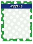 personalized dry erase message board - SAILOR GREEN