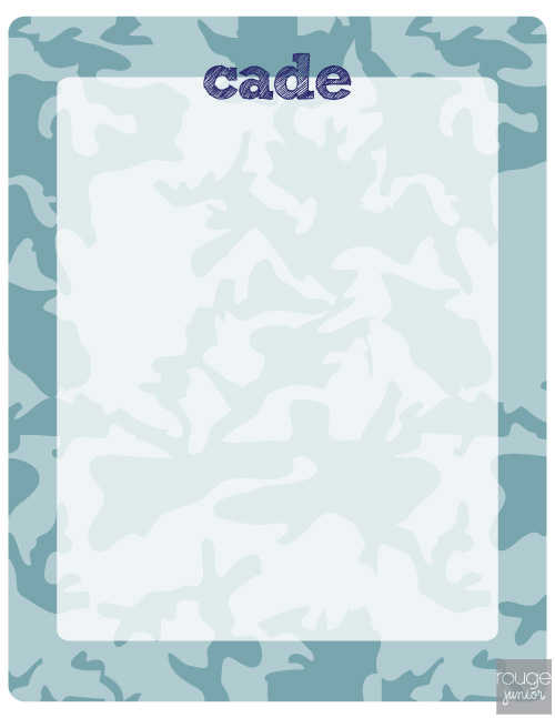 personalized dry erase message board - CAMO