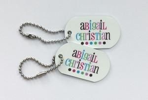 Good Cheer [pink] mini tags - set of 2