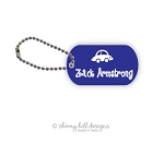 Blue car mini tags - set of 2