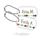 Personalized dog tags - set of 2 - DOT DOT DOT [pink or blue]