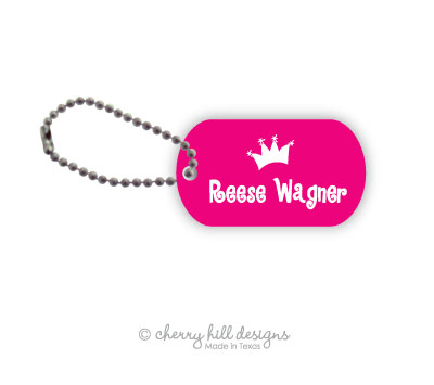 Personalized dog tags - set of 2 - PRINCESS