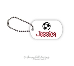 Personalized dog tags - set of 2 - SOCCER