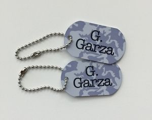 camo mini tags - set of 2