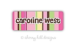 Iron-on Clothing Name Labels - set of 42 - NAUTICAL PINK
