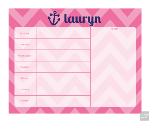 chevron weekly planner