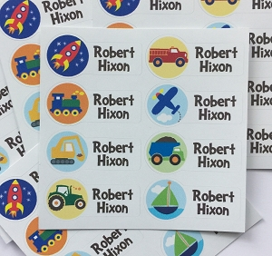 peel & stick clothing name labels - set of 56 - ON THE GO