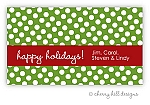 Polka Dot {holiday} gift tag labels