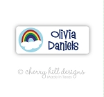 Iron-on Clothing Name Labels - set of 42 - RAINBOW