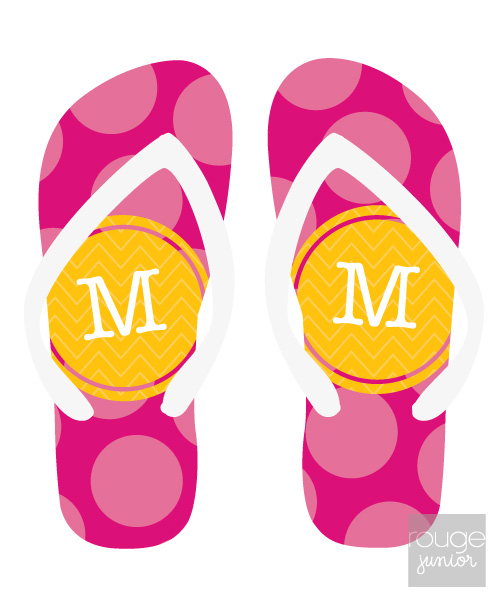 bubble dots flip flops