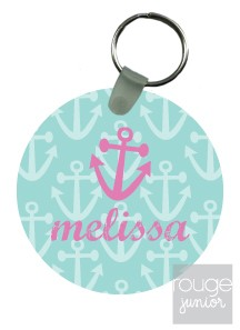 personalized keychain - ANCHORS