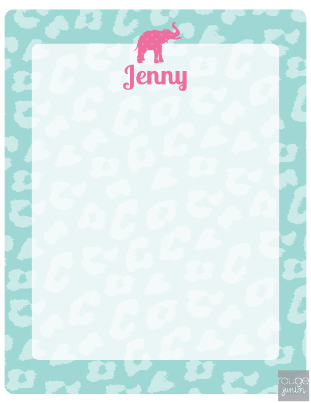 personalized dry erase message board - CHEETAH