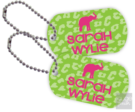 Personalized dog tags - set of 2 - CHEETAH
