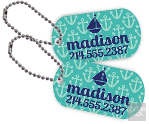 anchors mini tags - set of 2