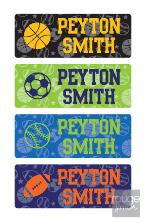 peel & stick clothing name labels - set of 64 - ALL-STAR