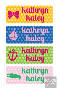waterproof name labels - set of 72 - POLKA DOT