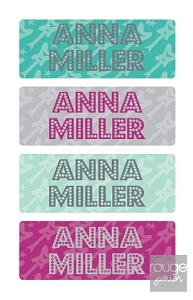 waterproof name labels - set of 72 - ROCKSTAR