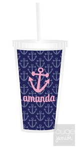 anchors straw tumbler