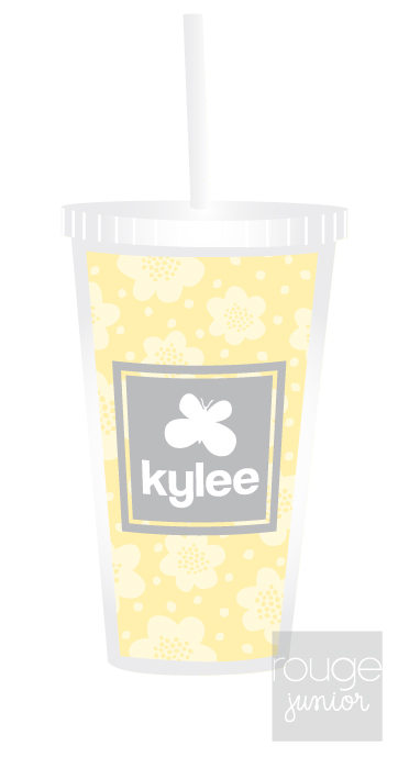 Personalized Acrylic Straw Tumbler - FLOWERS