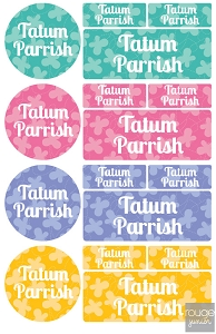 iron-on clothing name labels combo - set of 48 - BUTTERFLY