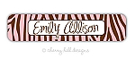 waterproof name labels - set of 24 - SAFARI PINK
