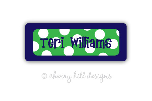 Iron-on Clothing Name Labels - set of 42 - SAILOR GREEN