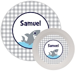 Personalized Kids Melamine Dinnerware - SHARK