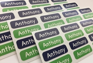 waterproof name labels - set of 64 - DOG
