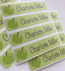 waterproof name labels - set of 24 - APPLE