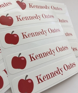 waterproof name labels - set of 24 - CHERRY