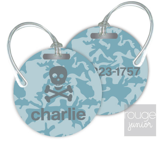 Personalized round premium bag tag - set of 2 - CAMO