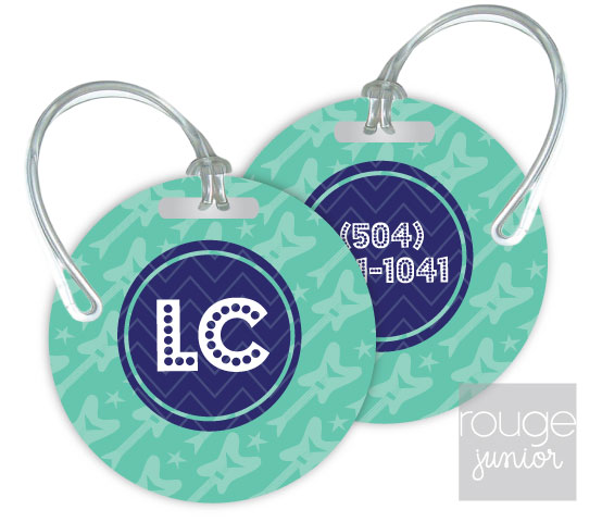 Personalized round premium bag tag - set of 2 - ROCKSTAR