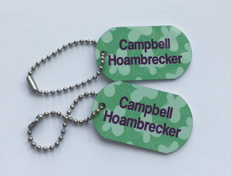 Personalized dog tags - set of 2 - BUTTERFLIES