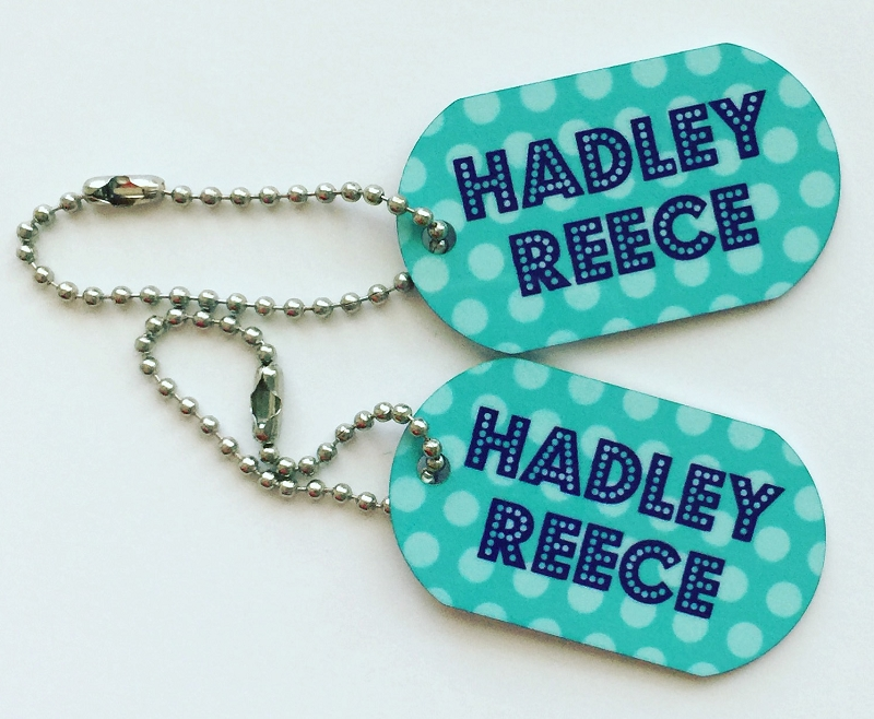 Personalized dog tags - set of 2 - POLKA DOT