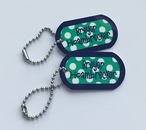 Personalized dog tags - set of 2 - SAILOR GREEN