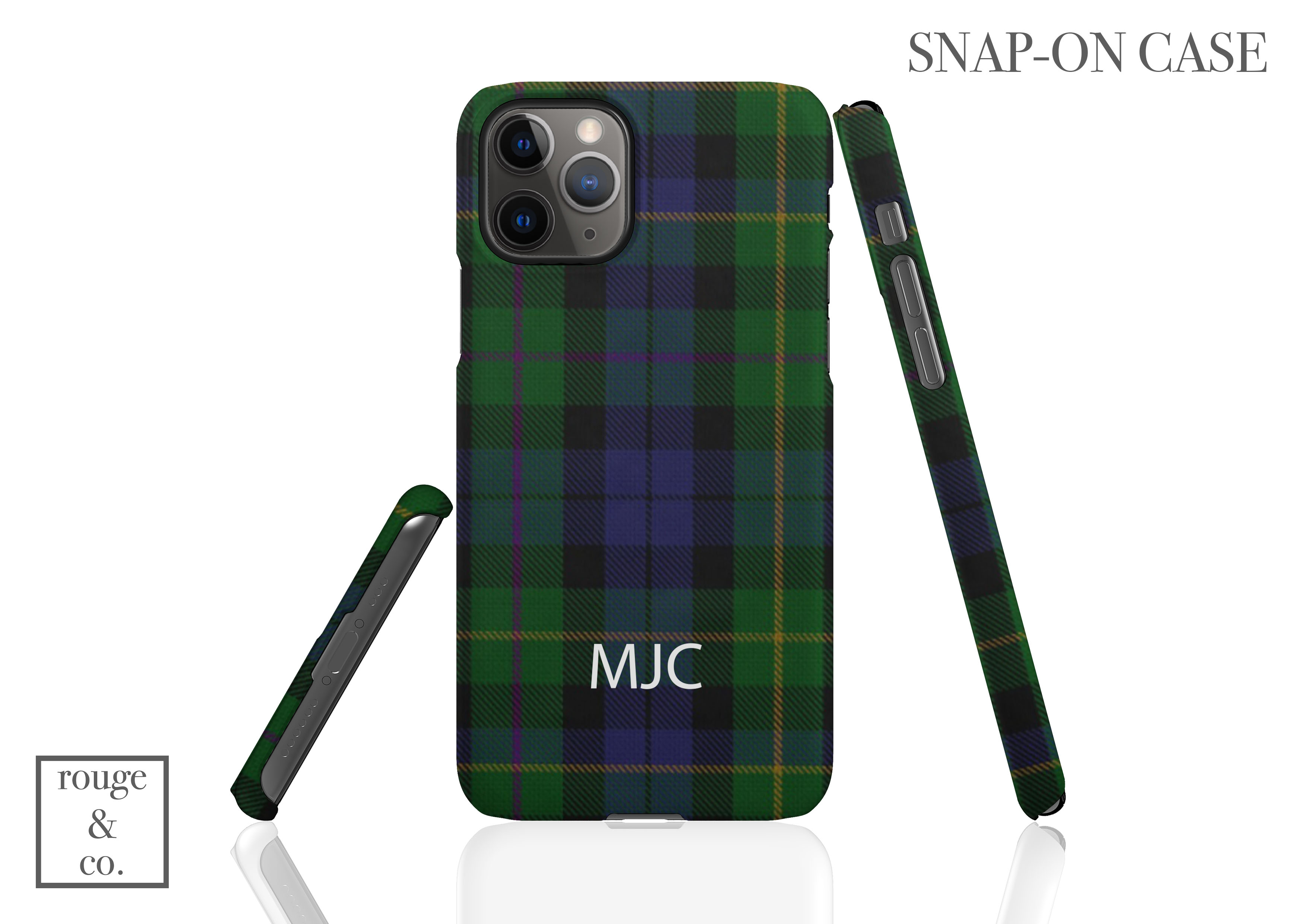 Personalized iPhone Case - TARTAN PLAID BLUE