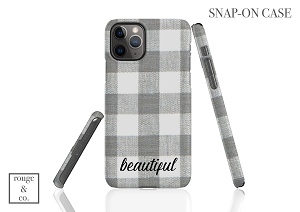 Personalized iPhone Case - BUFFALO CHECK GRAY