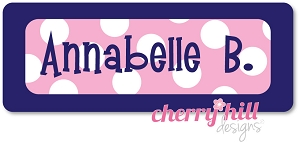 Iron-on Clothing Name Labels - set of 42 - SAILOR PINK
