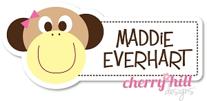 waterproof name labels - set of 24 - MONKEY GIRL