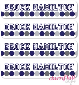 waterproof name labels - set of 24 - ATHLETE